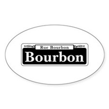 Bourbon St., New Orleans - USA Oval Decal