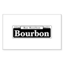 Bourbon St., New Orleans - USA Sticker (Rectangula