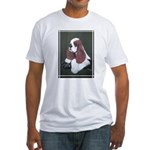 Cocker Spaniel parti colored Fitted T-Shirt