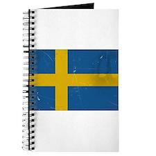 antiqued swedish flag Journal
