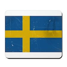 antiqued swedish flag Mousepad
