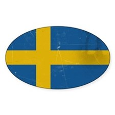 antiqued swedish flag Decal