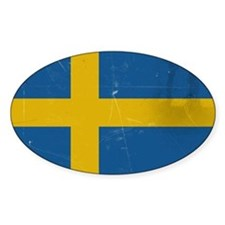 antiqued swedish flag Stickers