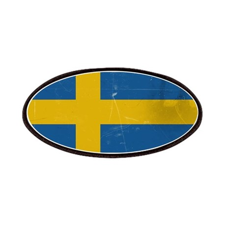 antiqued swedish flag Patches