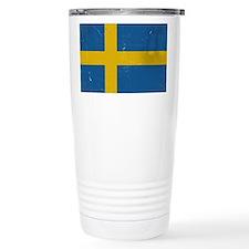 antiqued swedish flag Travel Mug