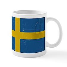 antiqued swedish flag Mugs