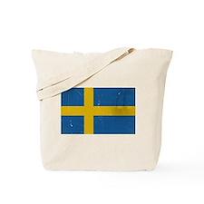 antiqued swedish flag Tote Bag