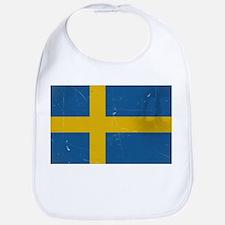 antiqued swedish flag Bib