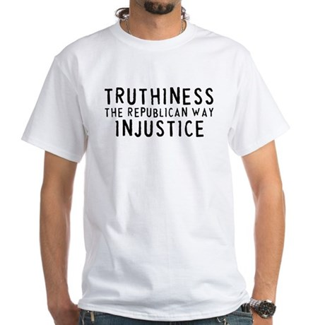 TRUTHINESS THE REPUBLICAN WAY White T-Shirt