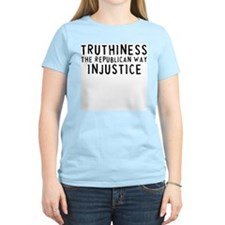 TRUTHINESS THE REPUBLICAN WAY Women's Pink T-Shirt