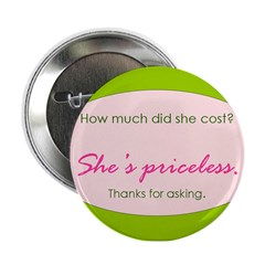 She's priceless. Button