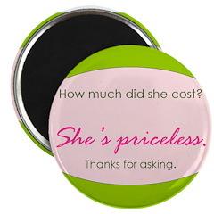 She's priceless. Magnet
