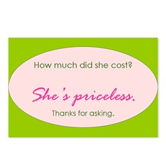 She's priceless. Postcards (Package of 8)
