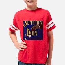 blk_sumthin_doin Youth Football Shirt