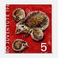 Vintage 1965 Switzerland hedgehogs Postage Stamp T