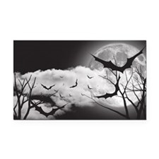 Bats in the Moonlight Rectangle Car Magnet
