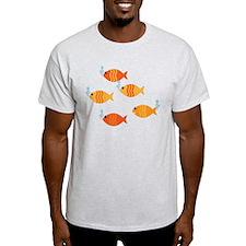 Five Orange Fish T-Shirt