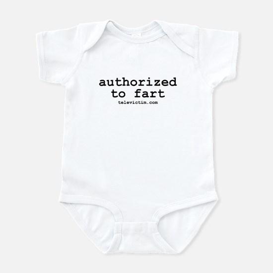 """authorized to fart"" Infant Bodysuit"