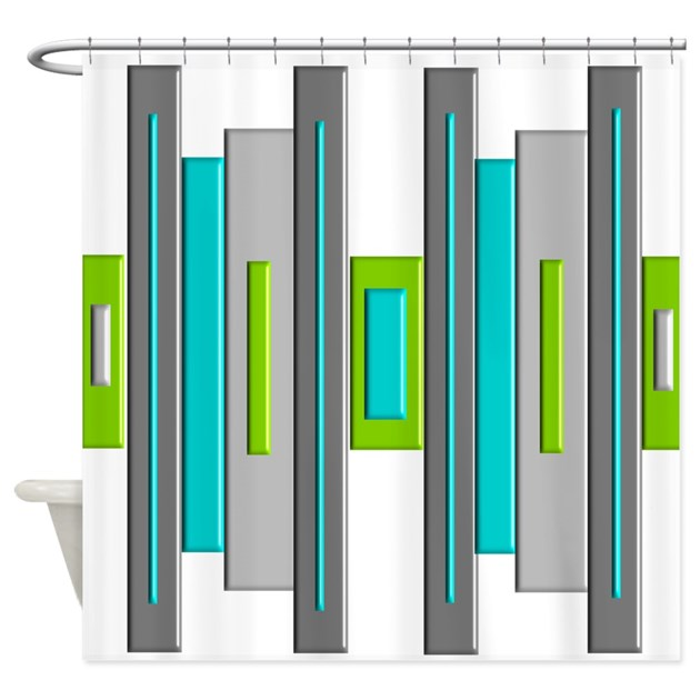 mid century modern shower curtain by gailgabel