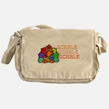 Gobble Gobble Gobble Colorful Turkey Messenger Bag