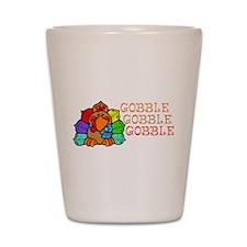 Gobble Gobble Gobble Colorful Turkey Shot Glass