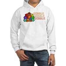 Gobble Gobble Gobble Colorful Turkey Hoodie