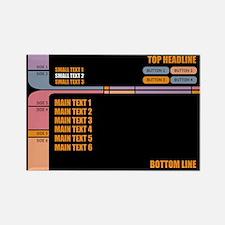 CUSTOM TEXT Star Trek LCARS Magnets