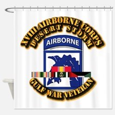Army - DS - XVIII ABN CORPS - w DS Shower Curtain