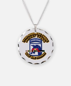Army - DS - XVIII ABN CORPS - w DS Necklace