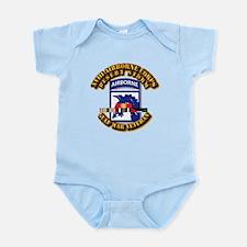 Army - DS - XVIII ABN CORPS - w DS Infant Bodysuit