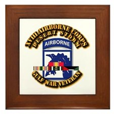 Army - DS - XVIII ABN CORPS - w DS Framed Tile