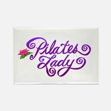 Pilates Lady Rectangle Magnet
