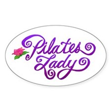 Pilates Lady Oval Decal