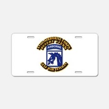 Army - DS - XVIII ABN CORPS Aluminum License Plate