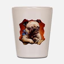 Bowtie Pug Puppy Shot Glass