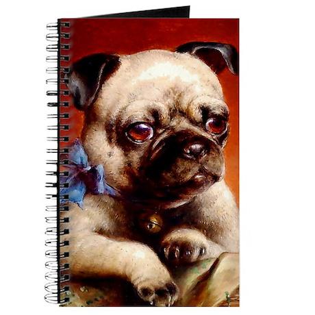 Bowtie Pug Puppy Journal