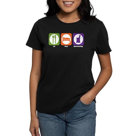 Eat Sleep Pharmacology Women's Dark T-Shirt