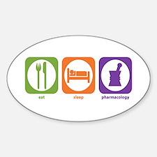 Eat Sleep Pharmacology Oval Decal