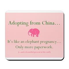 Elephant Pregnancy Mousepad
