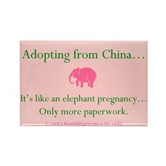 Elephant Pregnancy Rectangle Magnet (10 pack)