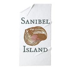 sanibel island shell .png Beach Towel