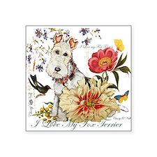 Fox Terrier Garden Sticker