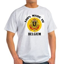 100% Made In Belgium Ash Grey T-Shirt