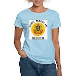 100% Made In Belgium Women's Pink T-Shirt