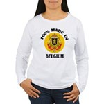 100% Made In Belgium Women's Long Sleeve T-Shirt