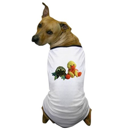 Frog and Ducky friends Dog T-Shirt