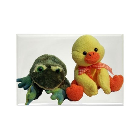 Frog and Ducky friends Rectangle Magnet