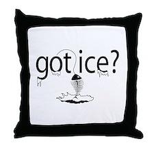 got ice? Ice Fishing Throw Pillow