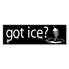 got ice? Ice Fishing Bumper Bumper Sticker