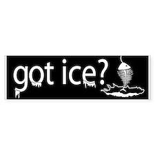 got ice? Ice Fishing Bumper Car Sticker